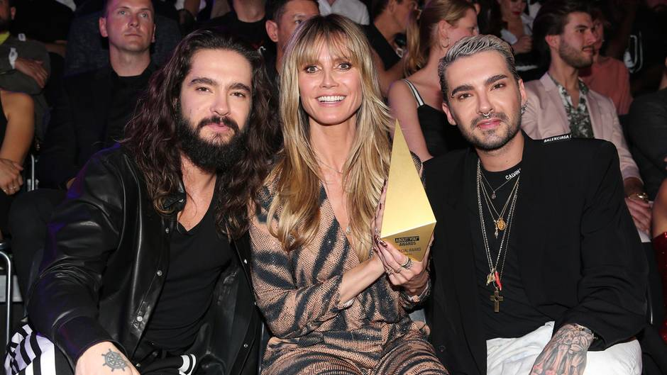"""About You""-Awards: Heidi Klum mit Tom und Bill Kaulitz"