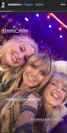 """About You""-Awards: Selfie mit Heidi Klum und Bonnie Strange"