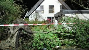 Sturmschaden an einem Einfamilienhaus