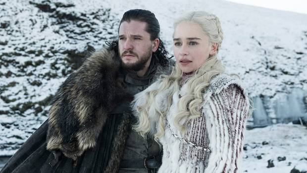 """Game of Thrones"": Daenerys Targaryen mit Jon Snow in Winterfell"
