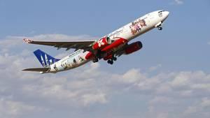 Eine Maschine der Fluggesellschaft Air Asia