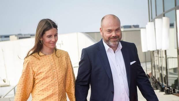 Anders Holch Povlsen und seine Frau kommenim Mai 2018 zum 50. Geburtstag von Prinz Frederik von Dänemark
