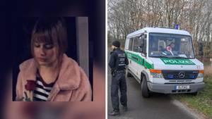 vermisste Rebecca aus Berlin; eine Polizeifahrzeug