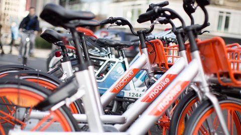Leihräder des Anbieters Mobike