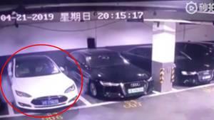 Tesla explodiert in chinesischer Tiefgarage