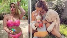 Während Curvy-Model Angelina Ostern auf den Malediven verbracht hat, schmuste Annemarie Carpendale mit ihrem Sohn und ein paar Kuschelhasen.
