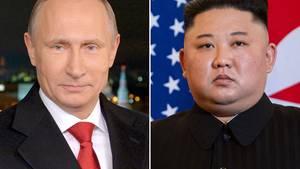 Wladimir Putin und Kim Jong Un