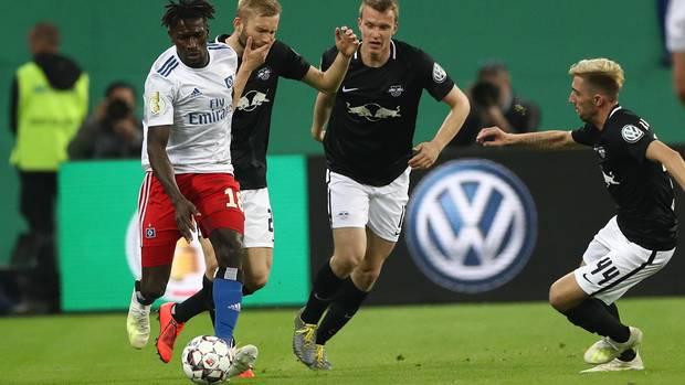 Der HSV verlor gegen RB Leipzig mit 1:3