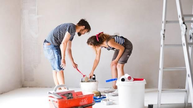 Um deine Wohnung zu streichen brauchst du die passende Ausstattung