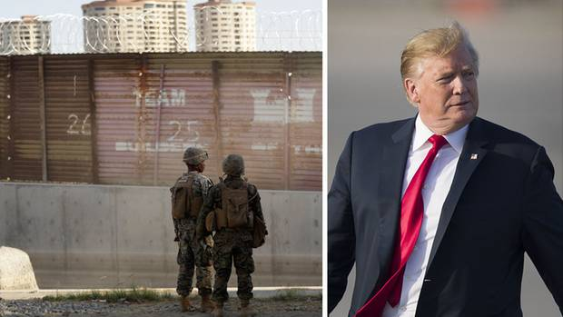 US-Soldaten an der Grenze zu Mexiko; US-Präsident Donald Trump