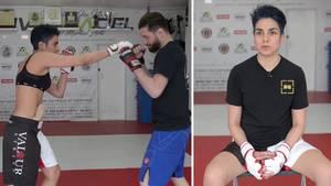 MMA-Kämpferin