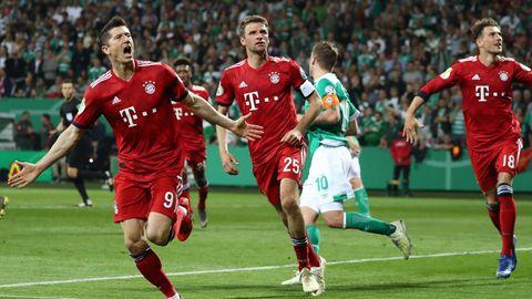 DFB-Pokal-Halbfinalspiel zwischen Bayern und Bremen