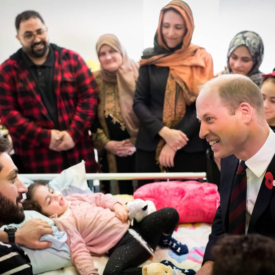 Christchurch: Prinz Williams rührende Begegnung mit fünfjährigem Anschlagsopfer