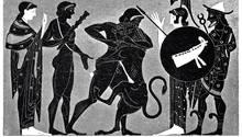 Athene und Hermes und der Nemeische Löwe