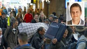Asylsuchende auf Bahnhöfen: Oft Gegenstand zahlreicher Verschwörungstheorien
