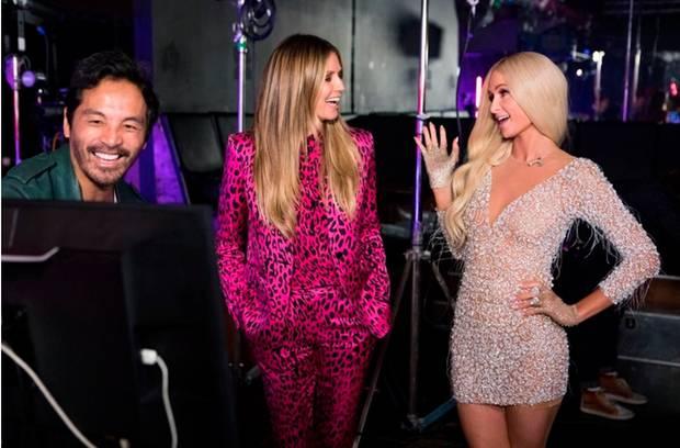 Paris Hilton und Heidi Klum bei GNTM