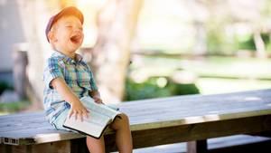 Zum Glück gibt's mit Kindern auch im größten Trubel immer was zu lachen!