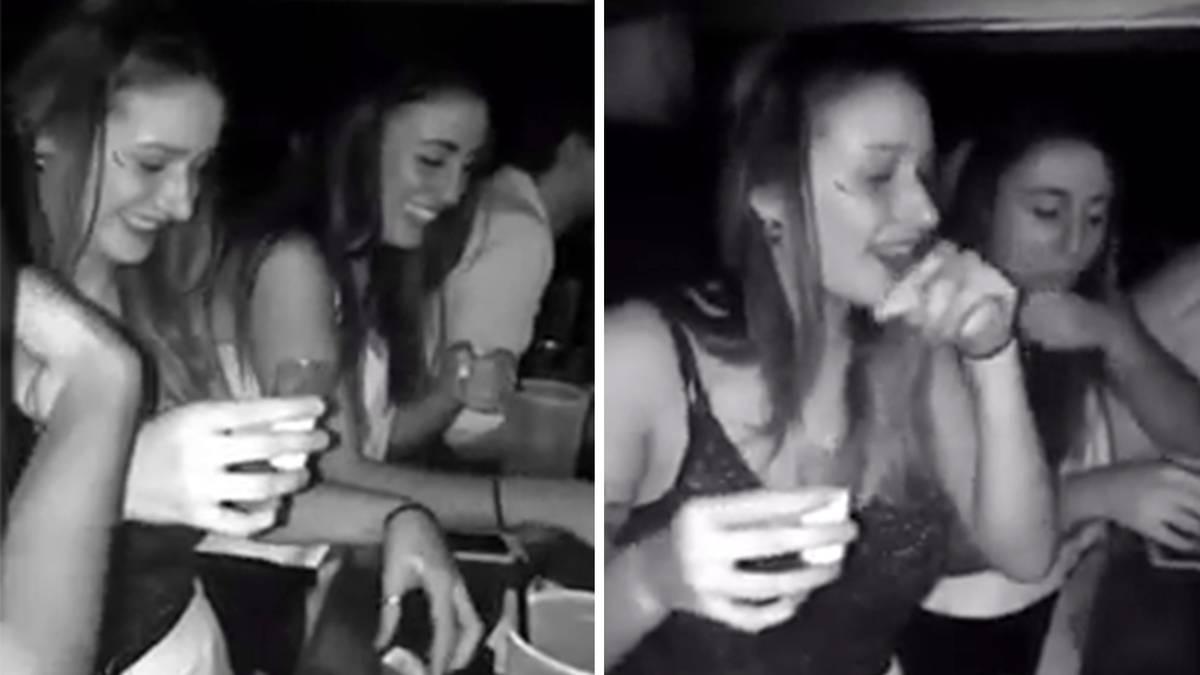 """Unappetitlicher Irrtum: Das ist kein Tequila-Shot! Warum diese junge Frau ihren """"Drink"""" auf den Tresen spuckt"""