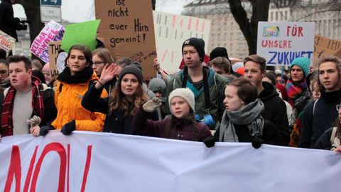 "Greta Thunberg bei einer ""Fridays for Future""-Demo in Hamburg"