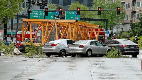 Seattle: Baukran stürzt von Google-Neubau - vier Tote