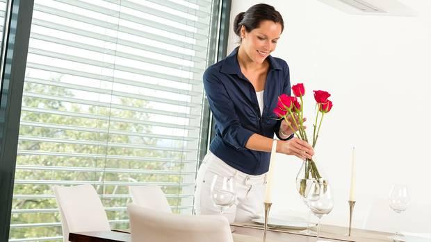 Mit Blumen und Dekowird das Zuhause noch wohnlicher.