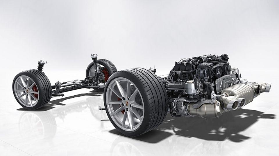 Porsche 911 Baureihe 992 - mit Benzinpartikelfilter