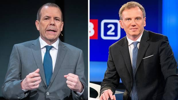Harald Vilimsky (l.)ist Generalsekretär und EU-Spitzenkandidat der FPÖ, Armin Wolf interviewte ihn vergangene Woche live im ORF