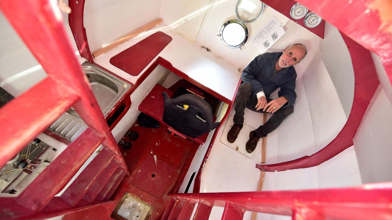 Das schwimmende Gehäuse vonJean-Jacques Savin. Seinesechs Quadratmeter große Überlebenstonne für den Transatlantiktrip.