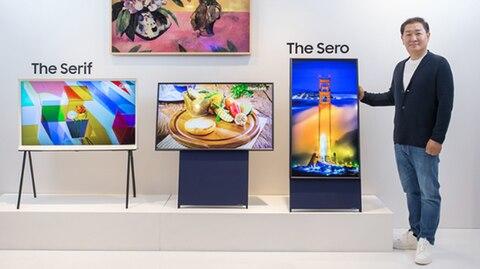 Samsung - The Sero - Hochkantfernseher - Smartphonevideos