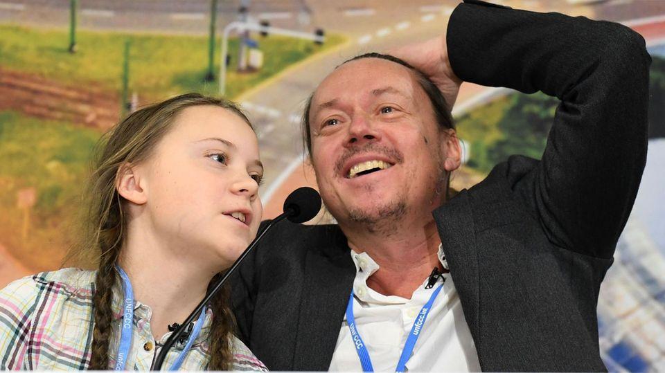 Greta Thunberg und ihr VaterSvante