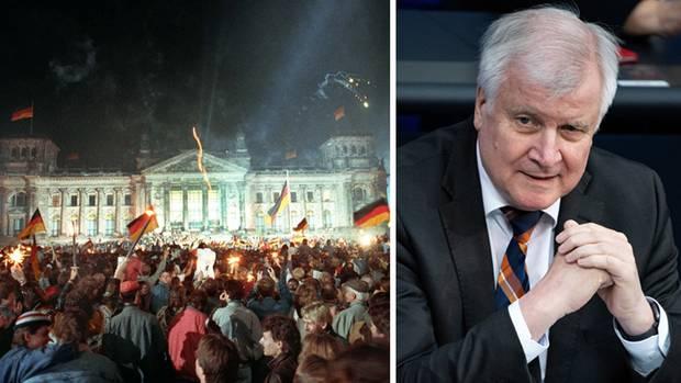 Menschen feiern in Berlin die Deutsche Einheit; Bundesinnenminister Horst Seehofer