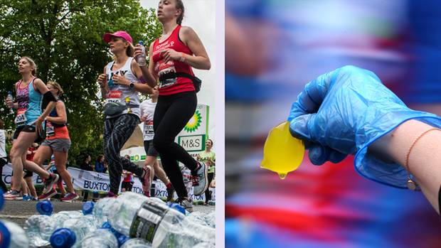 London Marathon Pods Wasser Plastik