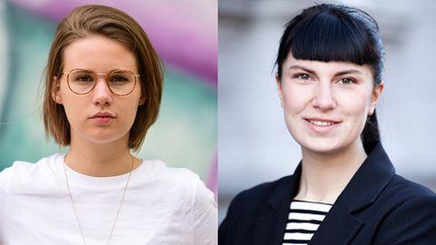 Die zwei jungen Frauen Ida Sassenberg und Hanna Seidel