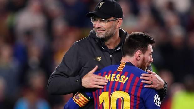 Jürgen Klopp Lionel Messi