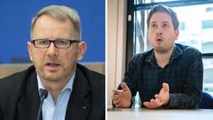 Johannes Kahrs (l.) und Kevin Kühnert, beide von der SPD