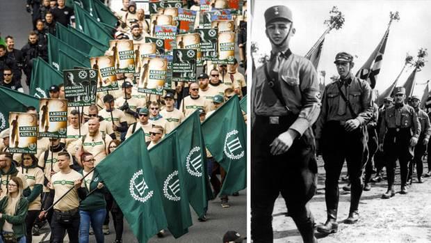 Neonazi-Demo in Plauen, SA-Aufmarsch in Berlin