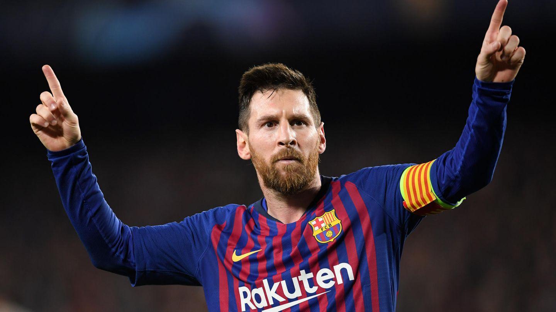Lionel Messi jubelt nach dem 3:0 gegen Liverpool in der Champions League