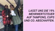 NEON auf dem Weltfrauentag in Berlin