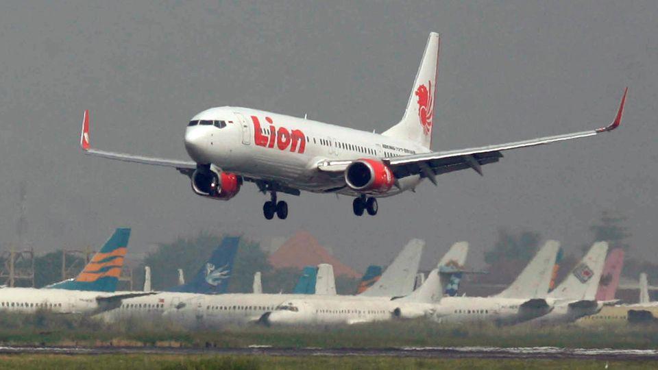 Eine Boeing 737 des indonesischen Billigfliegers Lion Air