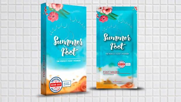 Summer Foot Fußmaske