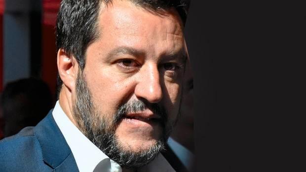 """""""Wir arbeiten für einen neuen europäischen Traum"""", sagt Matteo Salvini, Chef der Lega und Italiens Vizepremier"""