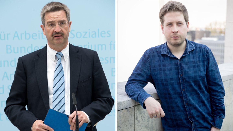 Manfred Schoch und Kevin Kühnert