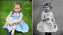 Kinderbilder derTochter von William und Kate, Prinzessin Charlotte (4), zeigen große Ähnlichkeiten mit ihrer Uroma, Queen Elizabeth (91), die auf diesem Bild von1930 als Kind zu sehen ist.