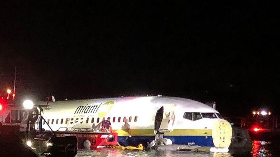 Bei dem Unglück mit einer Boeing in Florida hatten die Passagiere Glück im Unglück