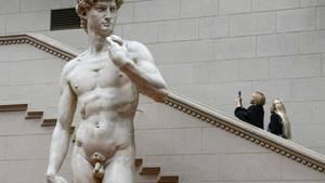 Eine Replika einer Michelangelo-Statue