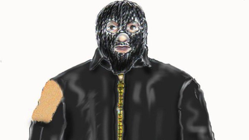"""Mit diesem Phantombild suchte die Polizei damals nach dem """"Maskenmann"""""""