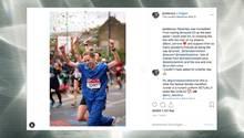 Krankenschwester läuft Marathon in Uniform
