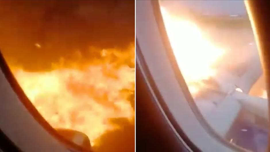 Unglück in Moskau: Video aus dem Passagierraum dokumentiert die fatale Notlandung