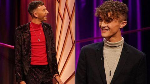 """Die beiden siegreichen Kandidaten der britischen Kuppelshow """"Blind Date"""""""