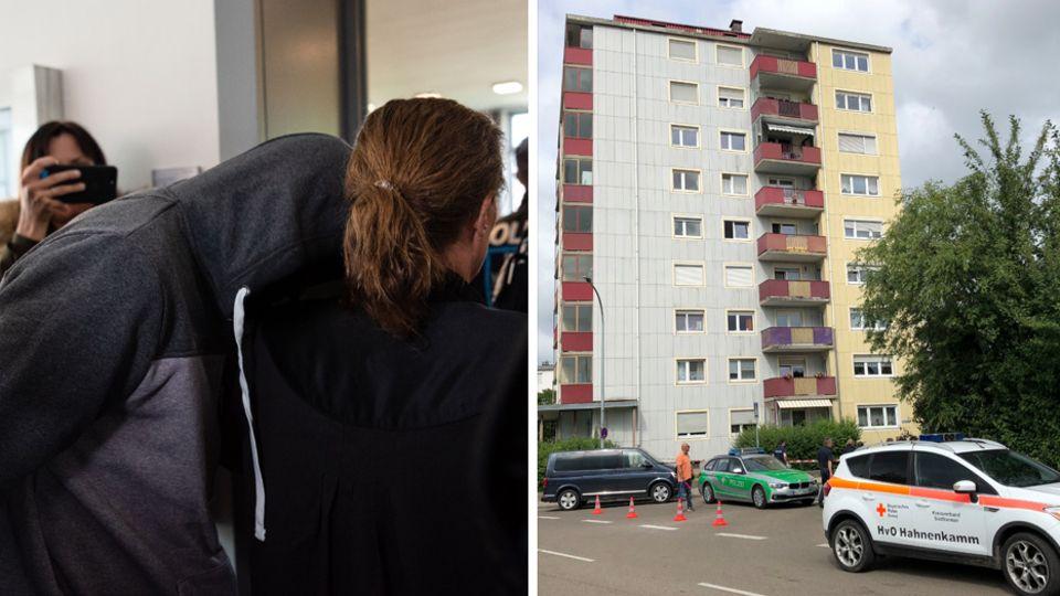 Angeklagter im Landgericht Ansbach, Tatort in Gunzenhausen